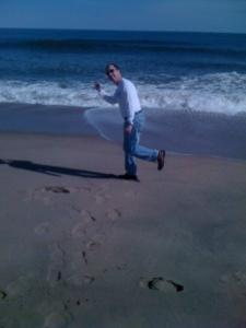 Shot of me on the beach at Kill Devil Hills.