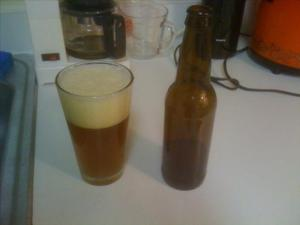 First Bottle of home brew