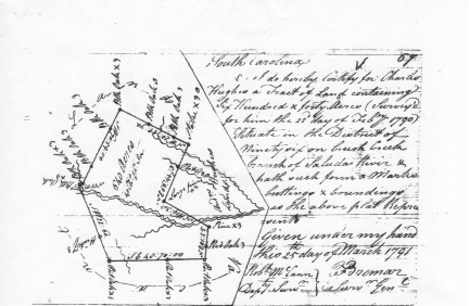 Charles Hughes plat, 1791
