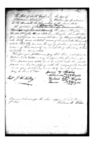 This petition, filed June 9th, 1848, asks for guardianship of the orphans of Elisha and Margaret Hughes to Margaret's brother, William M. Willson.