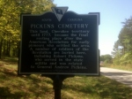 This historical marker is on Three and Twenty Road near Easley, S.C.