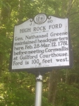High Rock Ford was an important crossing point for both sides in the Revolutionary War.