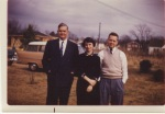 This photo of Robert with his son, Leigh, and daughter-in-law, Kathy, was taken in Tuscaloosa in the 1950s.