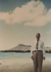 This photo was taken at Diamond Head, Hawaii, in the 1950s.