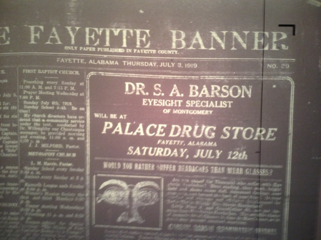 The front page of The Fayette Banner from July 3, 1919 (as seen on microfilm).