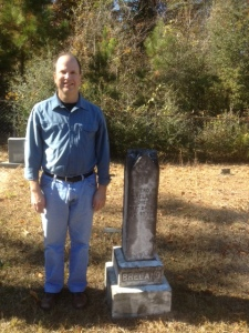 This is the headstone of my maternal great grandfather, Cicero M. Breland, in Mount Hermon, Louisiana.